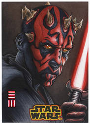 Maul Artist Proof Sketch Card from SOLO A STAR WAR