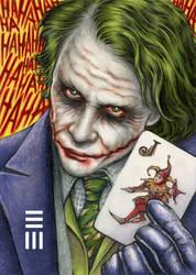 Heath Ledger as Joker by Erik-Maell