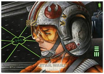 X-Wing Luke Panoramic Artist Proof by Erik-Maell