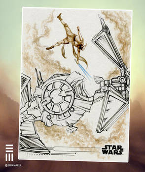 Rey vs TIE Whisper - WIP Stage 2