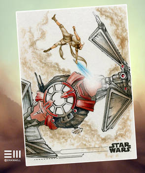 Rey vs TIE Whisper - WIP Stage 3