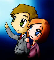 Mulder and Scully by xVanillax