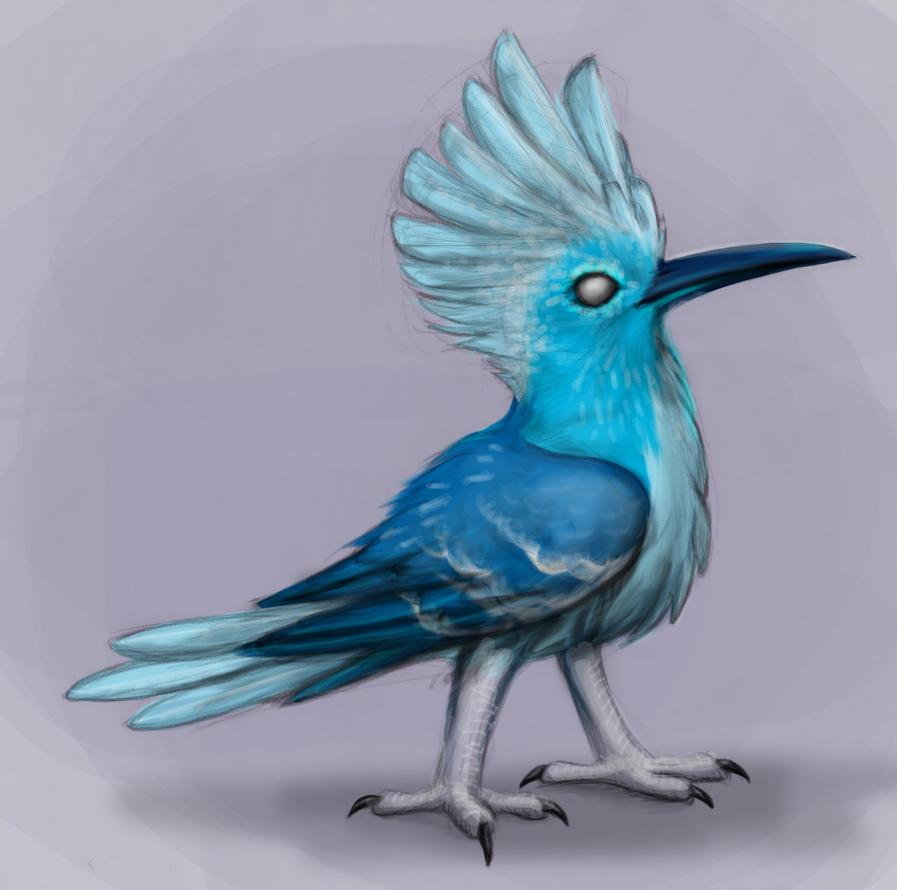 A strange sort of Blue Hoopoe by MF99K