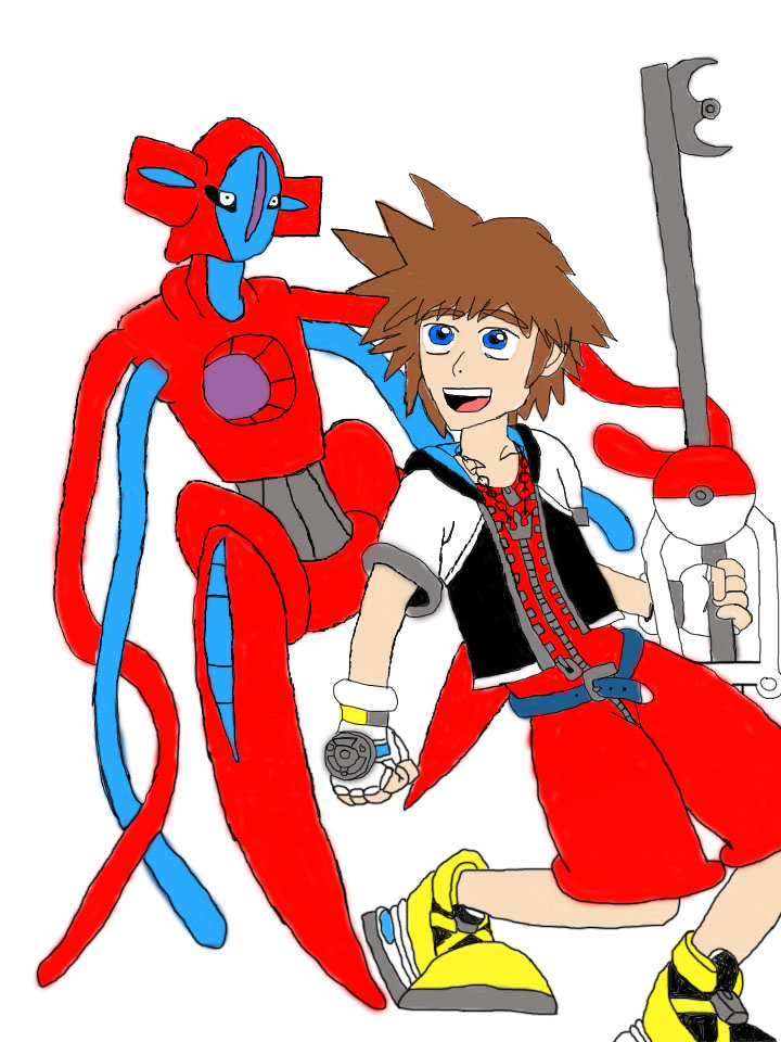 Sora And Deoxys by DeoxysPrime400