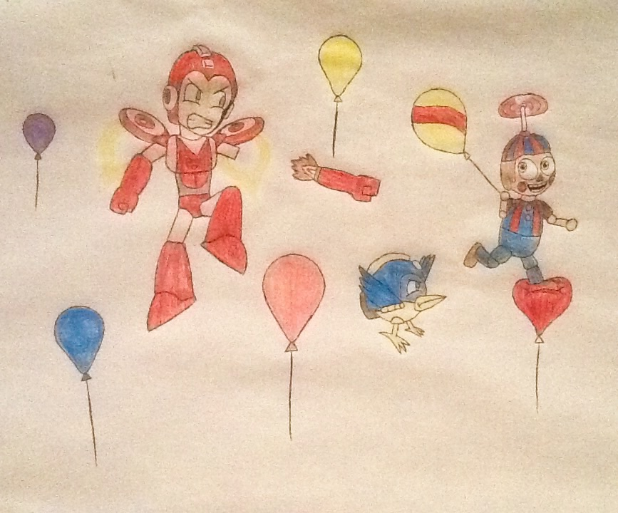 Megaman vs balloon boy by DeoxysPrime400