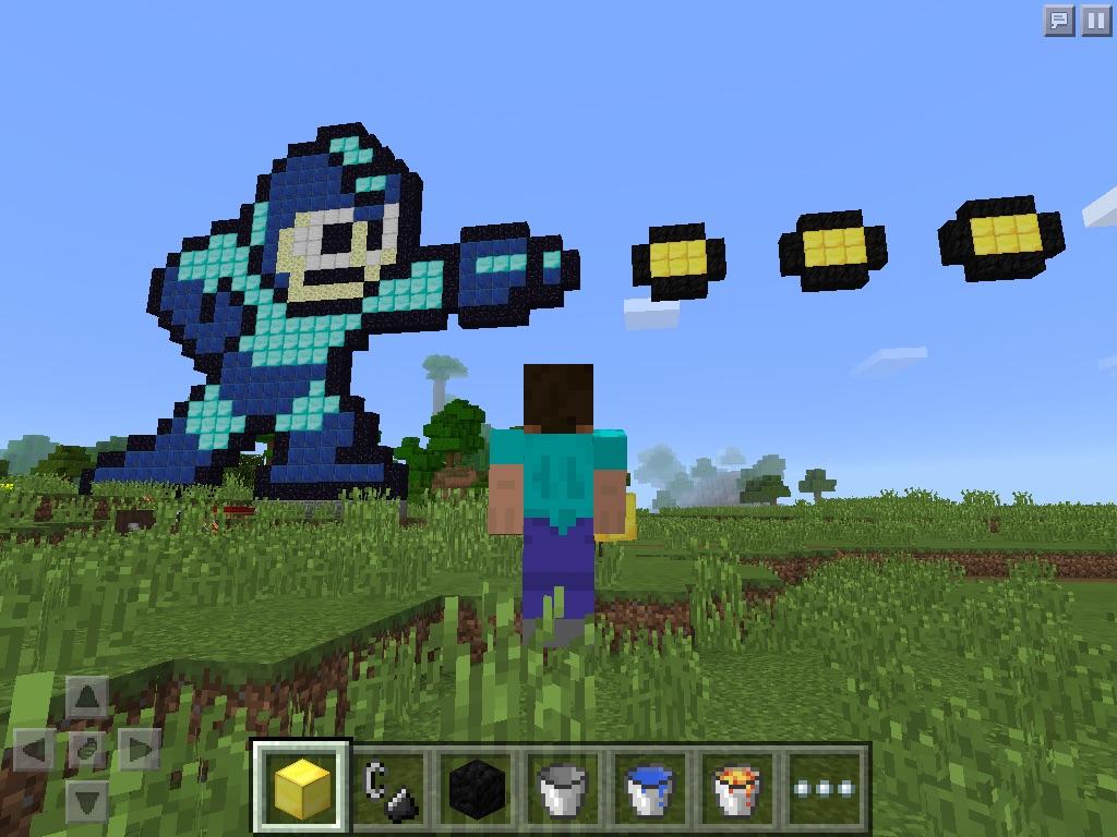 Megaman mindcraft by DeoxysPrime400