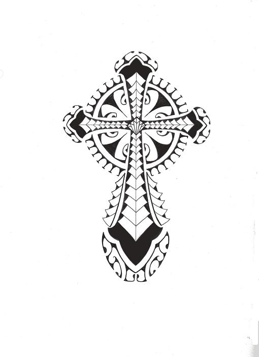 tribal polynesian cross by smekeal00 on deviantart. Black Bedroom Furniture Sets. Home Design Ideas