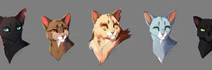 Crowfeather and Leafpool's fam