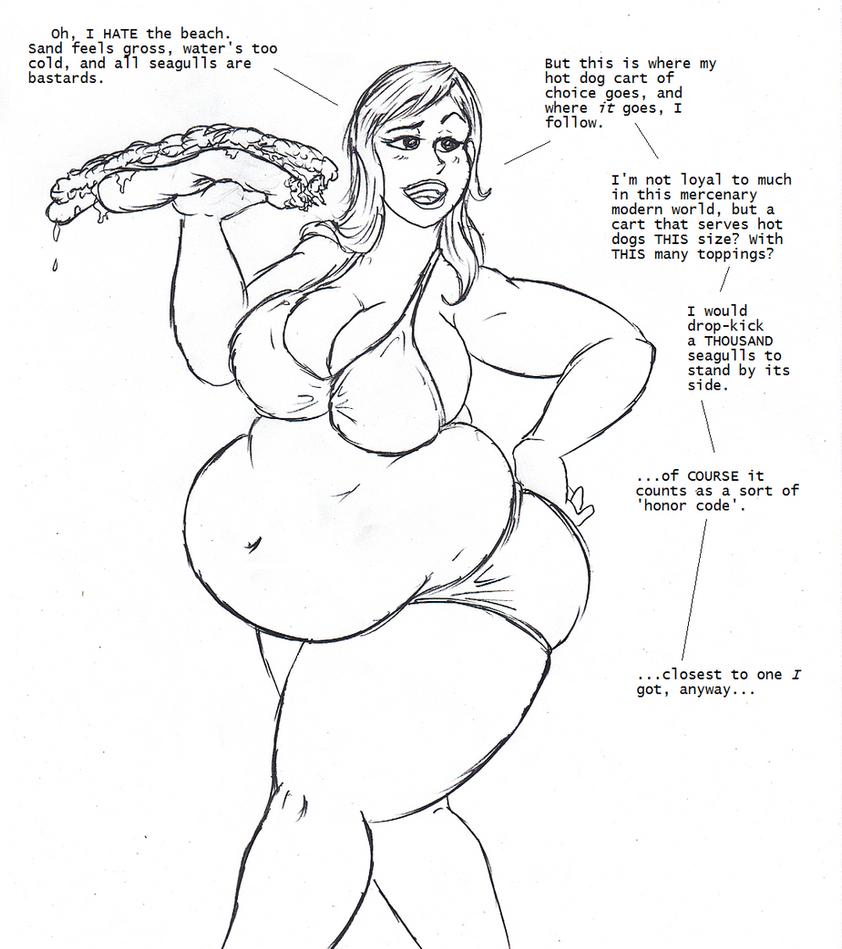 Hot Dog Heroism by Saxxon