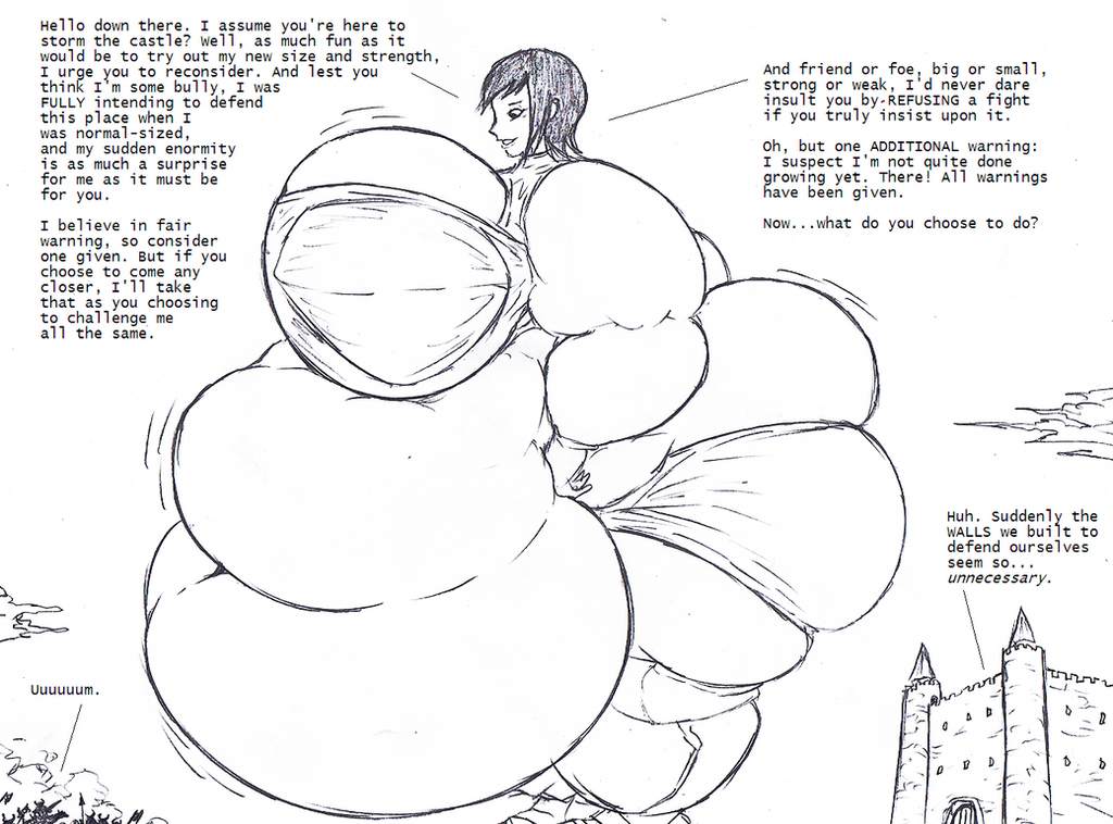 Fat Giantess Kjelle by Saxxon
