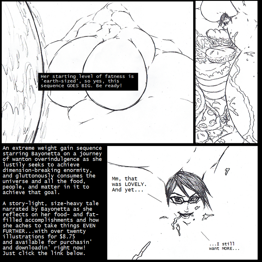 Bayonetta's Cosmic Weight Gain, now on E-Junkie! by Saxxon