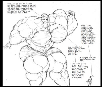 Adventures In Online Dating (muscle giantess)