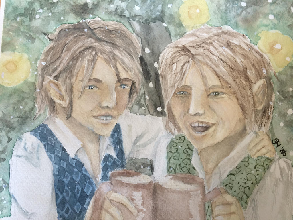 Frodo and Bilbo by sakura-forest