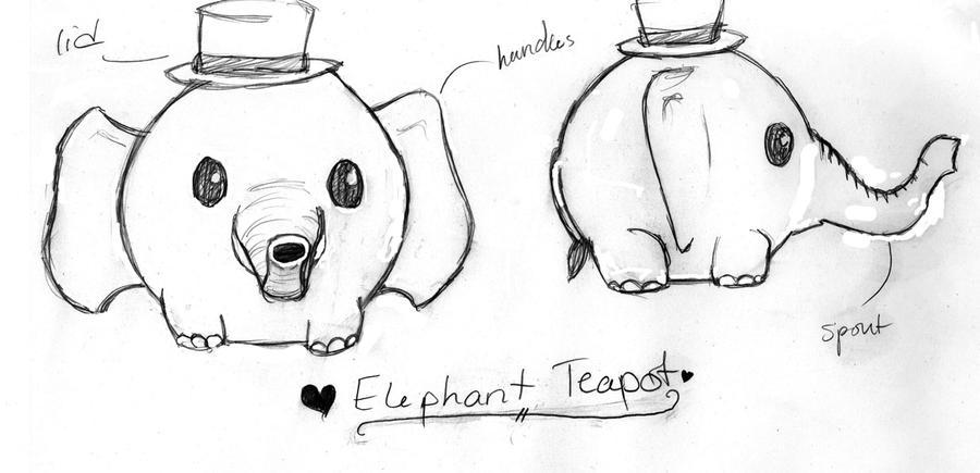 Teapot Sketch by LuverBeeTeapot Drawing Tumblr