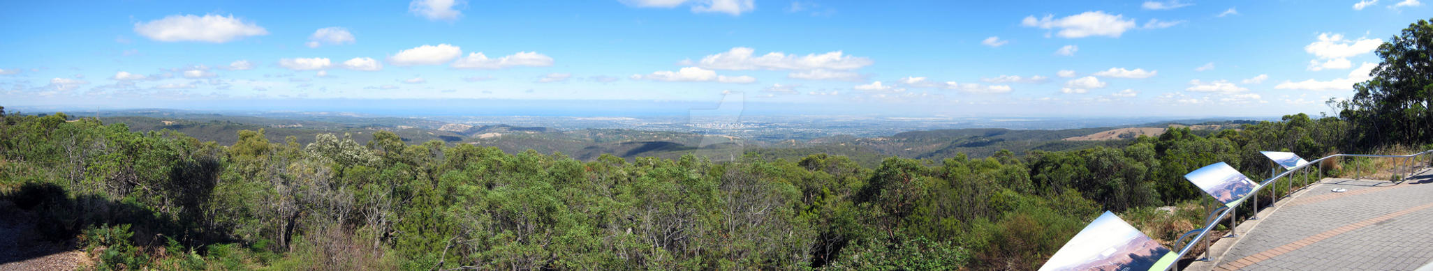 View of Adelaide from Mount Lofty December 2015 by Badooleoo