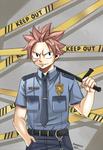 Natsu Policeman by Karola2712