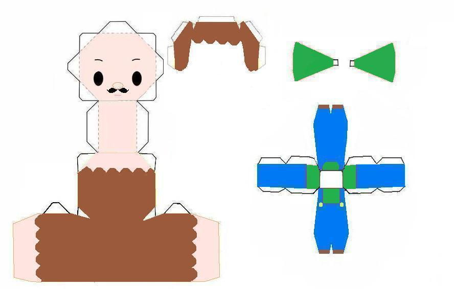 Chibi Luigi Papercraft by scaly-green on DeviantArt