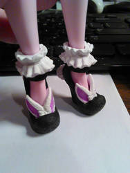 Repainted Bunny Blanc shoes