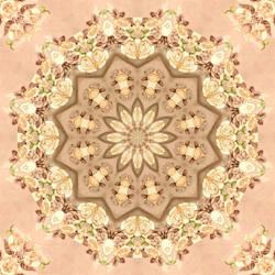 Peach Rose Mandala 3