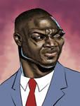 Adewale Akinnuoye-Agbaje Caricature