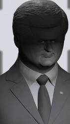 Stephen Harper 3D Caricature (Unfinished)