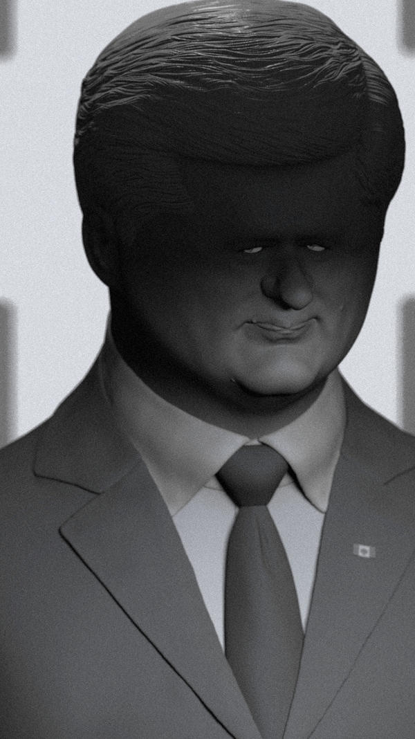 Stephen Harper 3D Caricature (Unfinished)
