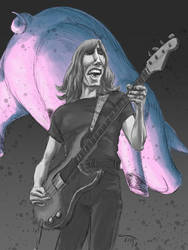 Roger Waters (Pink Floyd) Caricature