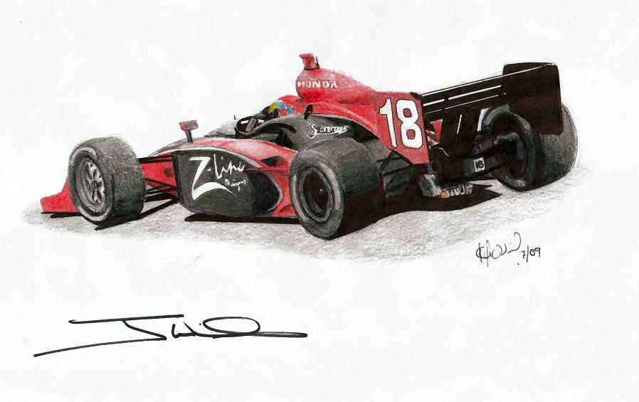 Justin Wilson -Autographed by Kalmek182