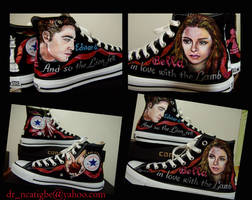 Bella and Edward on Converse by alcat2021
