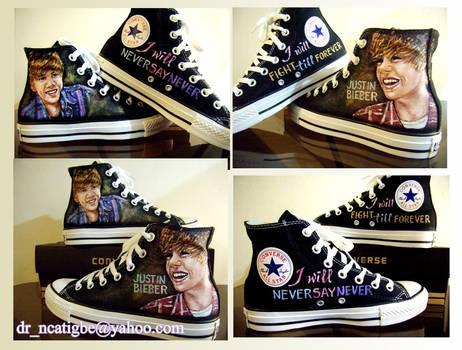 Justin Bieber on Converse