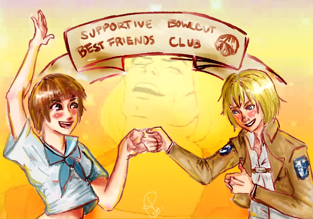 Supportive Bowlcut Best Friends Club by pseudonymyss