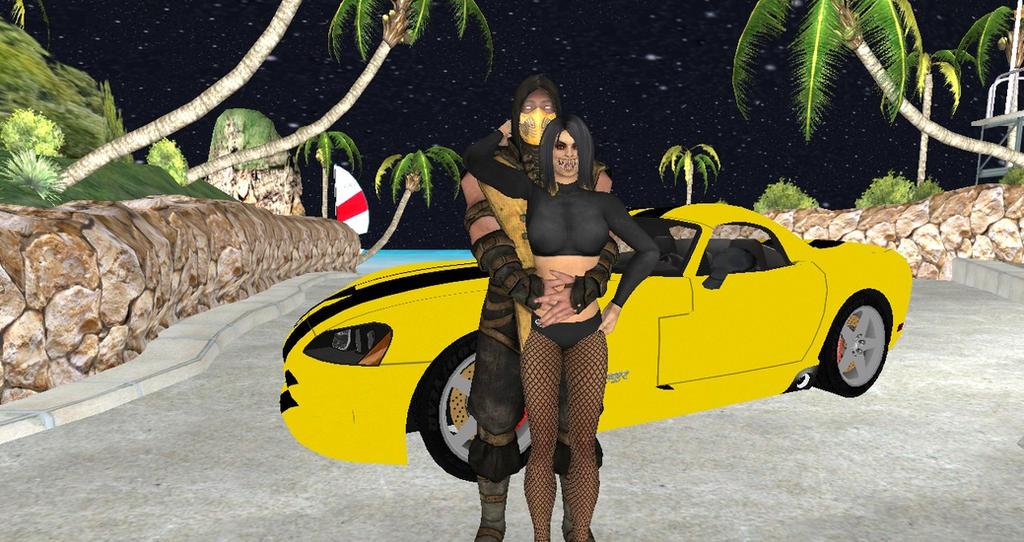 Scorpion X Mileena: Dodge Viper by Stylistic86