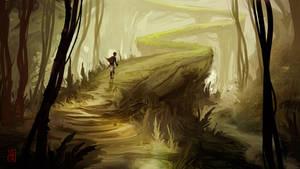 Mysterious Path by JohnoftheNorth