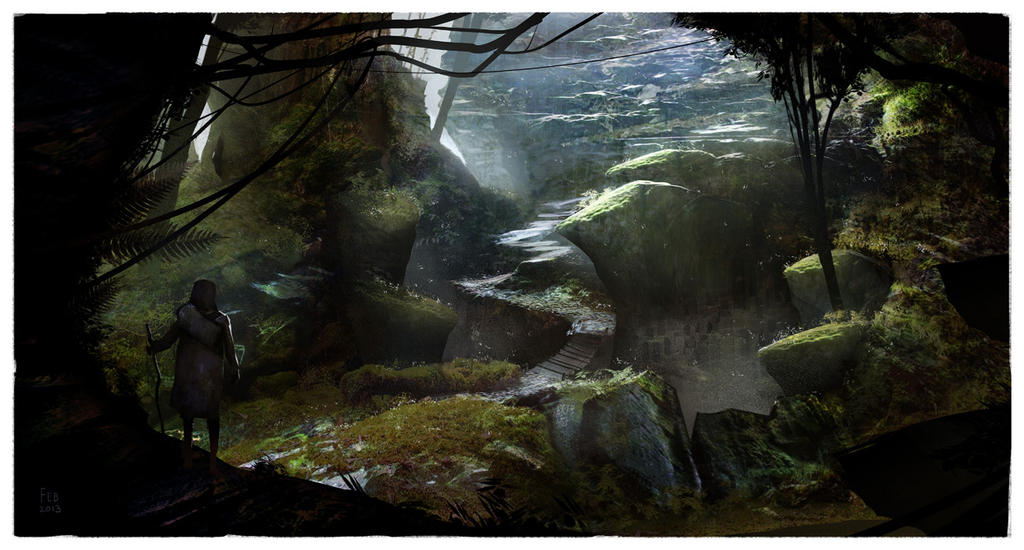 Forest Cave by JohnoftheNorth