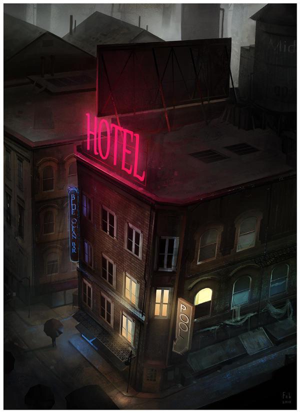 Hotel Rooftop by JohnoftheNorth
