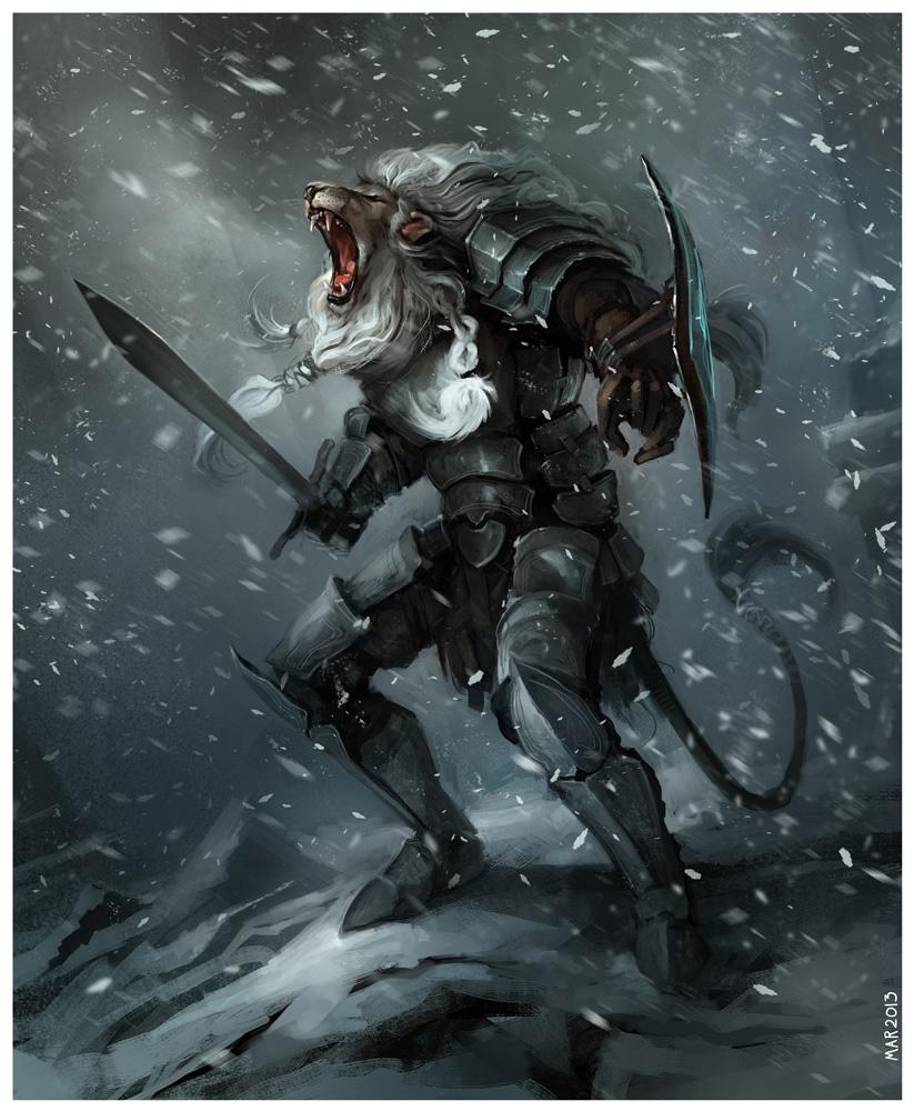 Lion Knight by JohnoftheNorth