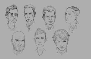 Faces Practice by JohnoftheNorth