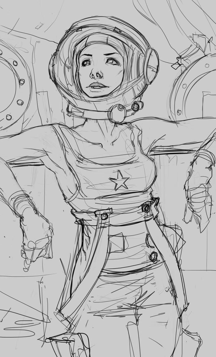Cosmonaut by JohnoftheNorth