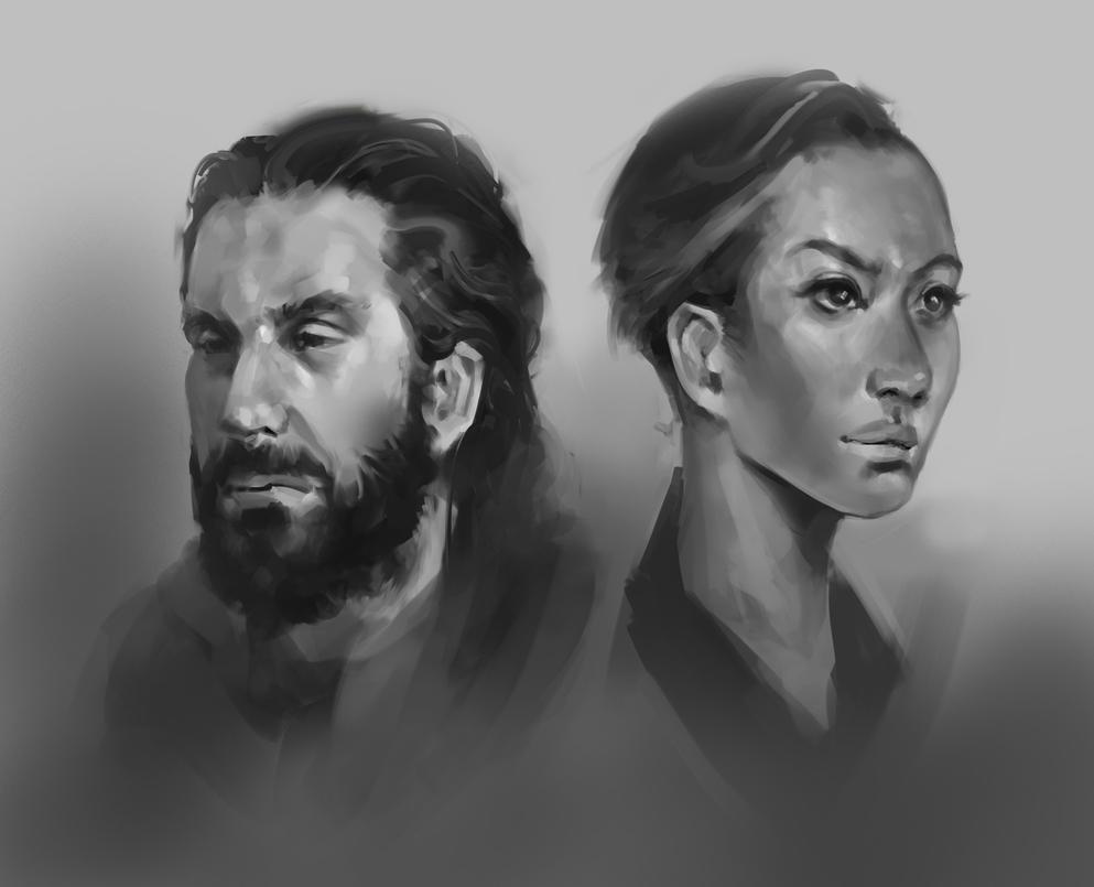 Portraits Dec 2015 by JohnoftheNorth