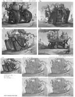 MtG - Unstable -Secret Base Sketches 2 by JohnoftheNorth