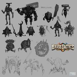 Brass Tactics - Early Unit Designs 1 by JohnoftheNorth