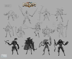 Brass Tactics - Ranged Unit Early Designs