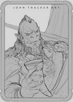 Orc Captain by JohnoftheNorth