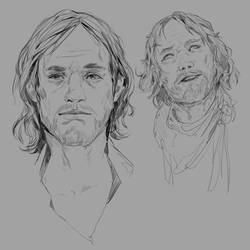 Face sketches August 2019