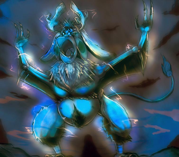 creature art: Thunder elemental by Phantom-Shadow16
