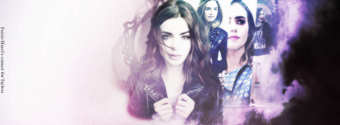 Lily Collins. | Facebook timeline. by kateGraphics
