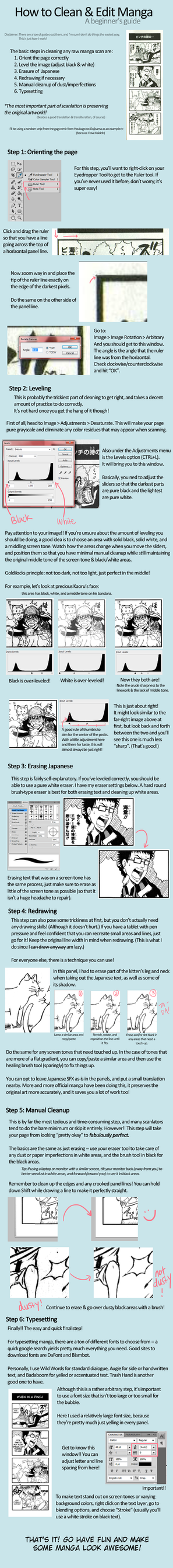 Beginner's Guide to Scanlating Manga by AceOfZeon