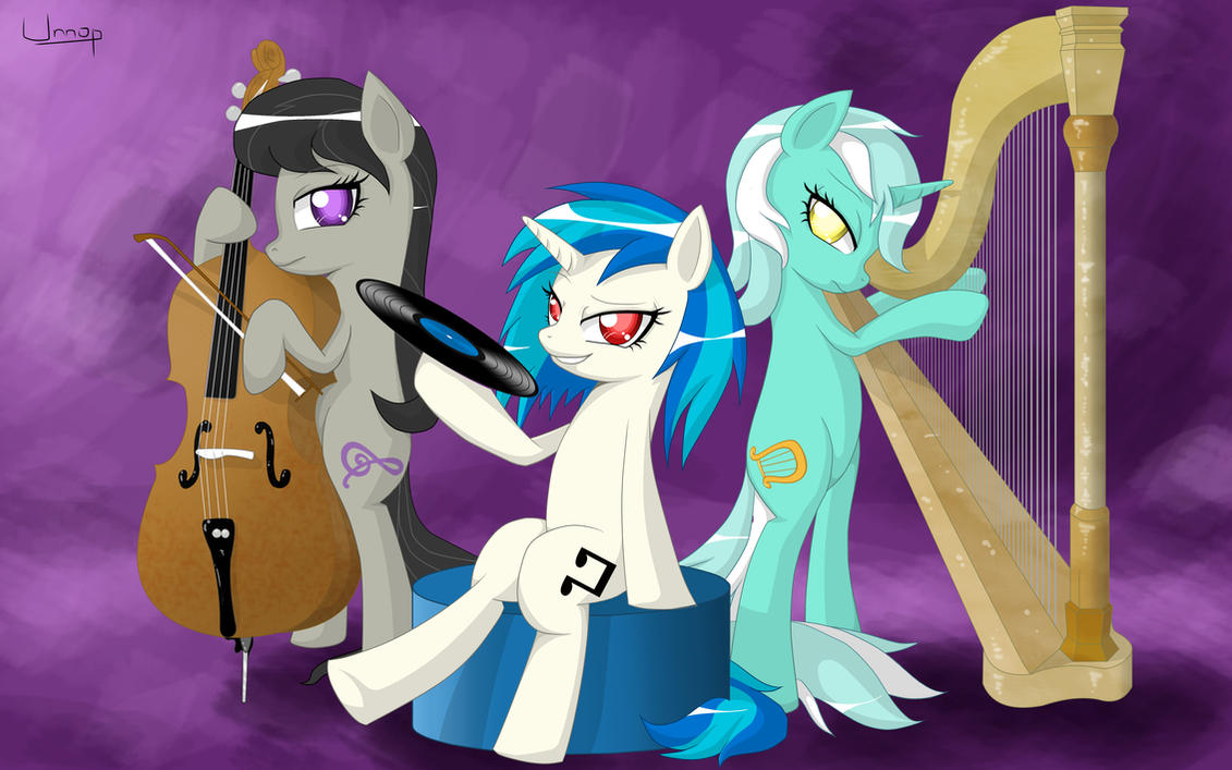 The musicians (Octavia, Vinyl, Lyra) by Unnop64