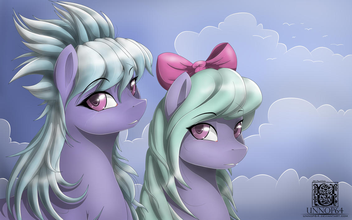 Cloudchaser and Flitter (edit-apologize) by Unnop64