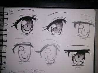 final Eyes inking experiment